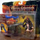 Pirates Of The Carribean 2 Deluxe Captain Jack Sparrow with Firing Cannon & Kraken Tentacle New