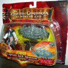 Pirates Of The Carribean 3 Deluxe Cap. Jack Sparrow with transforming Crab & Navigational Chart New