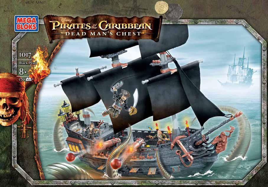 Mega Bloks - 1017 - Pirates of the Caribbean 2 - Dead Man's Chest - Black Pearl NEW