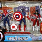 "Captain America The First Avenger Kmart Exclusive The International Patriots 4"" Action Figure 3 Pack"