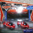 DISNEY PIXAR CARS 1:55 Scale Supercharged Movie Moments 2 Pack - Red Mia & Tia NEW