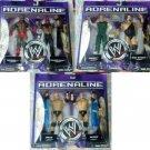 WWE Jakks Pacific Wrestling Adrenaline Series 21 COMPLETE Set of 6 Action Figures ( 3 ) 2-Packs NEW