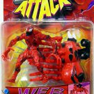 Toy Biz Spider-Man Sneak Attack Web Flyers: Carnage Spider Action Figure with Carnage Racer New