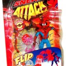 Toy Biz Spider-Man Sneak Attack Flip 'N Trap Web Catcher Spidey Action Figure with Webnet Catcher