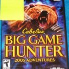 Cabela's Big Game Hunter: 2005 Adventures for Sony PlayStation 2 NEW PS2 GAME
