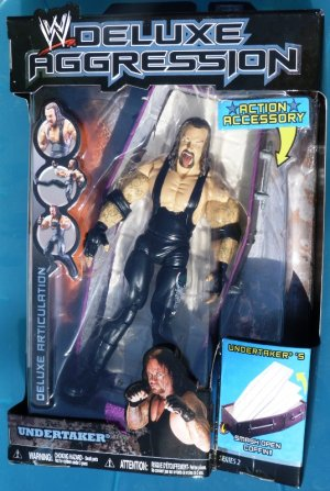 WWE Jakks Pacific DELUXE Aggression Series 2 Undertaker Action Figure with Smash Open Coffin NEW