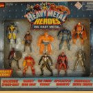 Marvel Comics Toy Biz Heavy Metal Heroes Die Cast Metal Action Figures 10 pack New