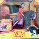 Mattel Disney Mulan The Movie 1997 Mulan & Riding Khan Black Horse & Mushu Gift Set New