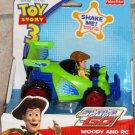 Fisher Price Shake 'n Go! Disney Pixar's Toy Story 3: Cowboy Woody with RC Shake 'N Go Car NEW
