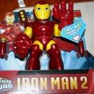 Hasbro Marvel Iron Man 2 Movie Rocket Boost Super Hero Squad Iron Man Action Figure Lights & Sound