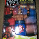 WWE Jakks Pacific Wrestling Off the Ropes Series 2 Real Scan RIKISHI Action Figure New