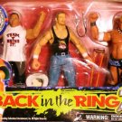 "WWF WWE Jakks Pacific "" Back in the Ring 2"" The Rock, Triple H & Rikishi Action Figures 4 Pack New"