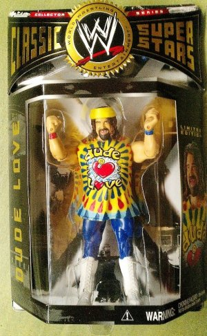 WWE Jakks Pacific Classic Series 2 DUDE LOVE ( Mick Foley ) Action Figure with Colorful Wristbands