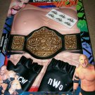 WCW World Championship Wrestling NWO Official Goldberg Wrestling Gear Action Set Dress up kit