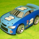 USED Fisher Price Shake 'n Go Racers! Nascar # 2 Light Blue Sotck Race Car with Sound & Action