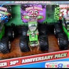 Mattel Hot Wheels Monster Jam Grave Digger 30th Anniversary Vehicles 3-Pack Scale 1:64 New