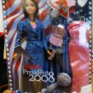 Mattel Barbie for President Doll  Brunette - 2008 Collection THE WHITE HOUSE PROJECT New