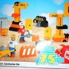 MEGA BLOKS CAT 7828 Building Blocks Construction Site [ 75 Pcs. ] New