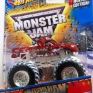 Mattel Hot Wheels Monster Jam Holiday Edition with Snow Tires Tasmanian Devil Truck Scale 1:64