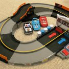 USED Fisher Price Shake 'n Go Speedway with 2 Pixar Cars & 1 Police Vehicle Racer Playset