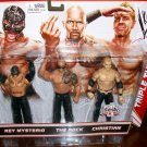 Mattel WWE Fan Central K-Mart Exclusive Rey Mysterio, Rock & Christian Action Figures 3 Pack