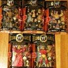 WWE Jakks Classic Deluxe Superstars Super Articulation Series 1 COMPLETE Set of 5 Action Figures New