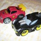 USED Fisher Price Shake 'n Go! The Dinamic Duo Batman & Robin Car DC Super Friends Batmobile