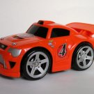 USED Fisher Price Shake 'n Go Racers! Super Car Orange # 4 Race Vehicle with Sound & Action