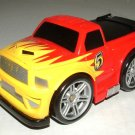 USED Fisher Price Shake 'n Go! Dodge Truck # 5 - Red & Yellow Race Car with Sound & Action