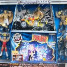 WWF WWE Jakks Pacific SmackDown Chrome Iron Collection Stage of Rage Playset with 5 Action Figures