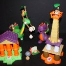 USED & Complete Little Tikes BC Builders I-Fell Tower Playset & Temple of Destruction Playset