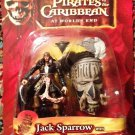 Pirates of the Caribbean At Worlds End Jack Sparrow with Cannibal Shrunken Head Action Figure