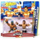 WWE Mattel Wrestling Rumblers Sin Cara & Evan Bourne Action Figure 2-Pack New