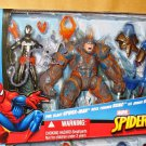 Hasbro Spider-Man Land Attack Battle Packs Action Figure 3 Pack NEW
