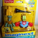 Fisher Price Imaginext Exclusive Spongebob Square Pants Mr. Krabs & Squidward Mini Action Figure New
