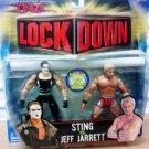 Marvel TNA Wrestling Total Nonstop Lock Down Series 3 Sting vs Jeff Jarrett Figure 2-pack New