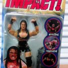 TNA Wrestling Total Nonstop Action Impact Series 4 Rhino Action Figure with Trash can & Barbed Wire