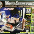 WWE Jakks Micro Aggression Crash & Bash Playset & Cage Match Ring with 4 Exclusive Figures New