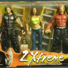 WWF WWE TNA Jakks Pacific 2 Xtreme The Hardy Boyz Jeff and Matt Hardy and Lita Action Figure New
