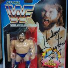Signed Hasbro WWF WWE Official Wrestling Hacksaw Jim Duggan Action Figure Autograph New