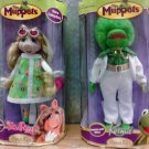 "Jim Henson's The Muppets Retro Collection Miss Piggy & Kermit the Frog Brass Key 8"" Porcelain Doll"