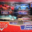 Mattel Disney Pixar Cars Supercharged 1:55 Die Cast Cruisin' Couples 4-Pack Gift Set New