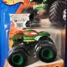 Mattel Hot Wheels 2004 Monster Jam #32 Raphael Teenage Mutant Ninja Turtles Truck Scale 1:64 New