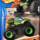 Mattel Hot Wheels 2004 Monster Jam #14 Leonardo Teenage Mutant Ninja Turtles Truck Scale 1:64 New