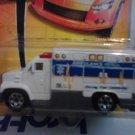 Mattel 2007 Matchbox MBX Metal #53 White Ambulance with Blue Stripe 1:64 Die Cast Car New