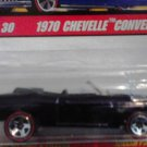 Mattel Hot Wheels Classic Series 2 Black 1970 Chevelle Convertible #1 of 30 Die Cast 1:64 Scale Car