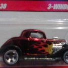 Mattel Hot Wheels Classic Series 2 Red 3-window '34 #18 of 30 Die Cast 1:64 Scale Car New