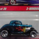 Mattel Hot Wheels Classic Series 2 Blue 3-window '34 #18 of 30 Die Cast 1:64 Scale Car New