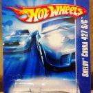 Mattel 2007 Hot Wheels Silver Shelby Cobra 427 S/C Vehicle Die Cast 1:64 Scale Car New