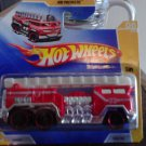 Hot Wheels Short Card 2009 - #6 HW Premier 5 Alarm Fire Engine FireTruck Die Cast 1:64 Scale Car